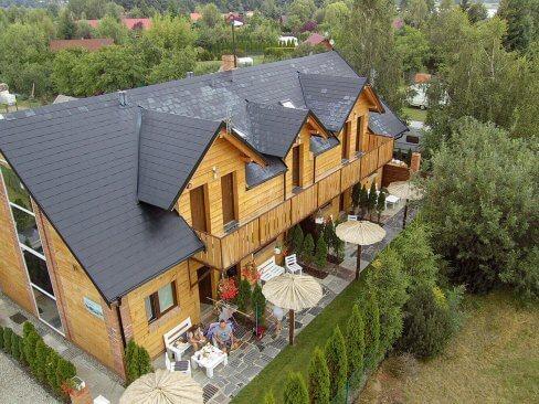 Wczasy w Cichowie - ośrodek, widok z góry